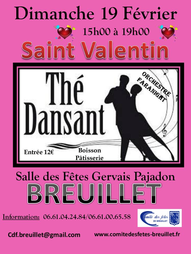 thé dansant de la saint valentin 19 fevrier 2017 comite des fetes breuillet