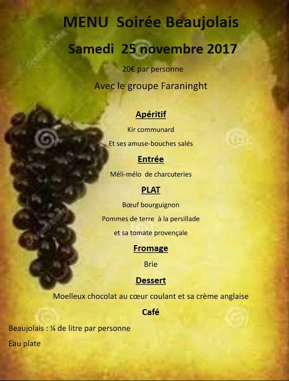 lotomenu soirée beaujolais 2017