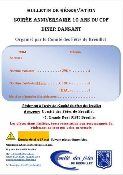 inscription 10 ans du CDFB